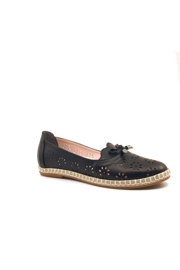 فروش کفش تخت زنانه 2020 برند Nehir رنگ مشکی کد ty52529008