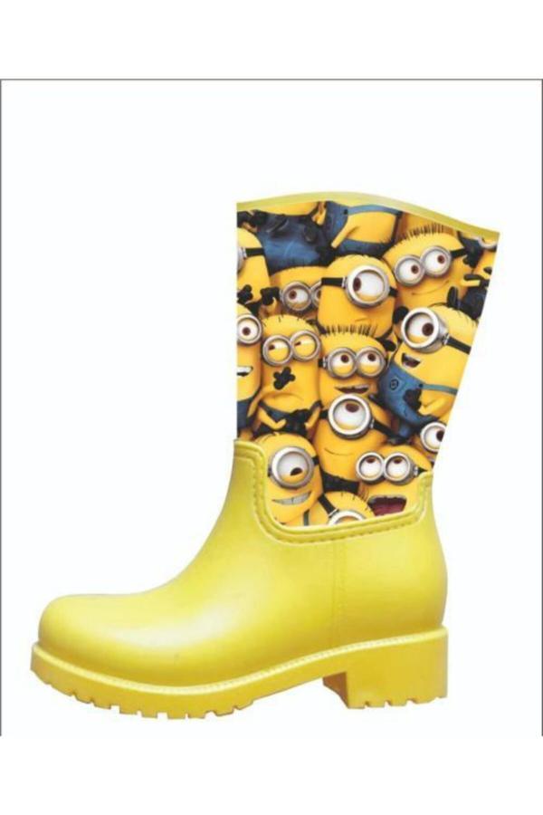 چکمه زنانه فانتزی برند ENA SHOES رنگ زرد ty52562548