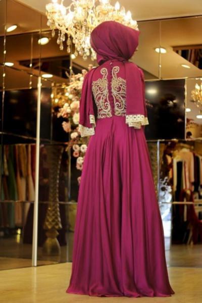 لباس مجلسی زنانه 2020 برند PINAR ŞEMS رنگ صورتی ty52578143
