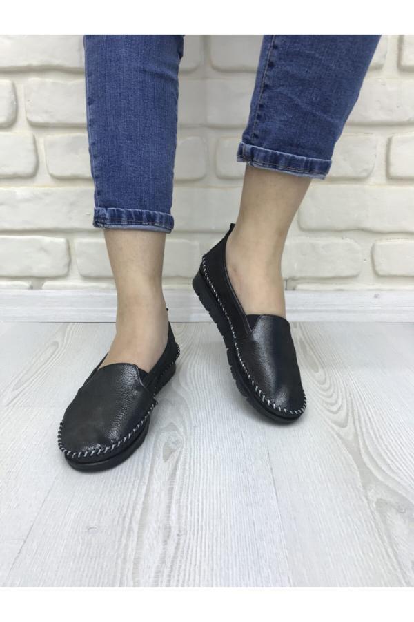 کفش تخت خاص زنانه برند FOTİN رنگ مشکی کد ty52582223