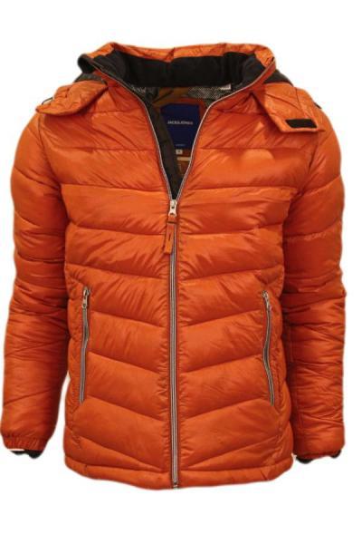 خرید اینترنتی کاپشن مردانه از استانبول برند Jack Jones رنگ نارنجی کد ty52583370