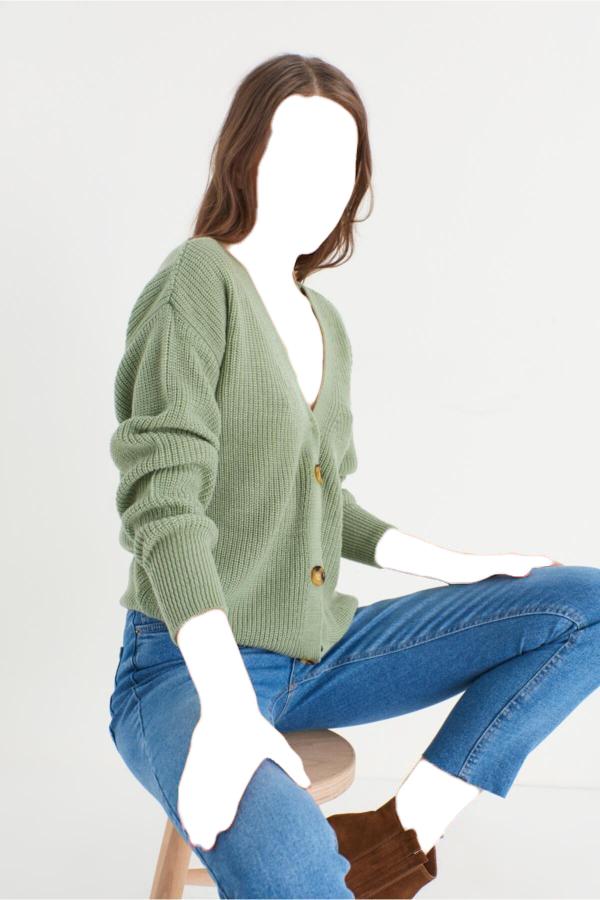 ژاکت بافتی زیبا برند Miyore رنگ سبز کد ty52584663