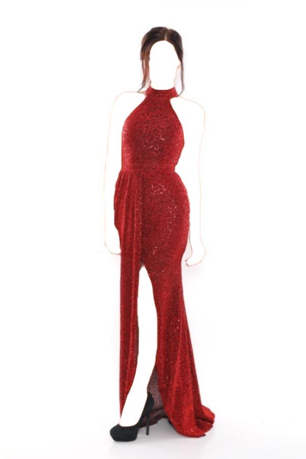 لباس مجلسی زنانه قیمت مناسب برند layla collection رنگ قرمز ty52585393