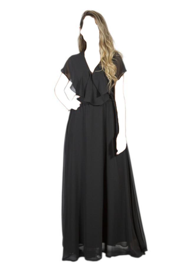 ژورنال لباس مجلسی زنانه برند Moda Çizgi رنگ مشکی کد ty52586147