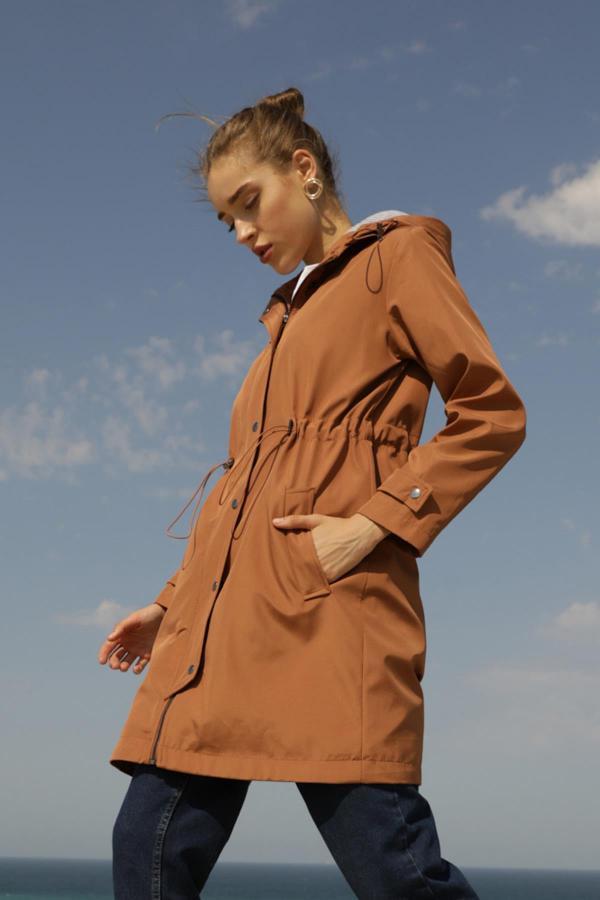 مانتو پاییزی زنانه  برند Miyore رنگ نارنجی کد ty52589876