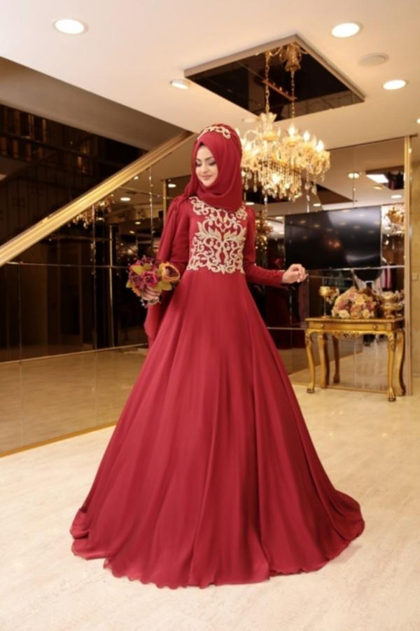لباس مجلسی زنانه ترک برند PINAR ŞEMS رنگ زرشکی ty52590517