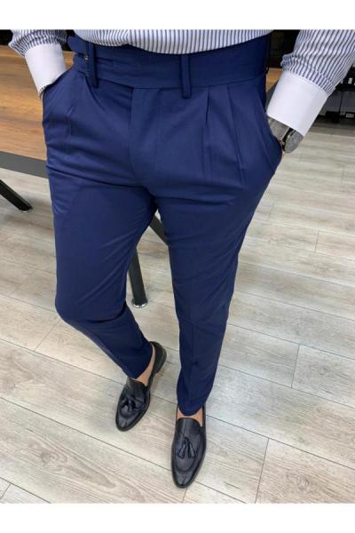 خرید اینترنتی شلوار خاص برند PAREZ رنگ لاجوردی کد ty52592017