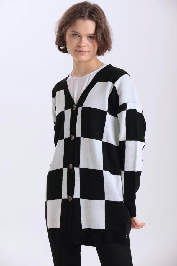 ژاکت بافتی زنانه خاص برند Makferlan رنگ مشکی کد ty52599503