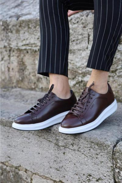 خرید نقدی کفش مخصوص پیاده روی جدید برند PAREZ رنگ قهوه ای کد ty52600329