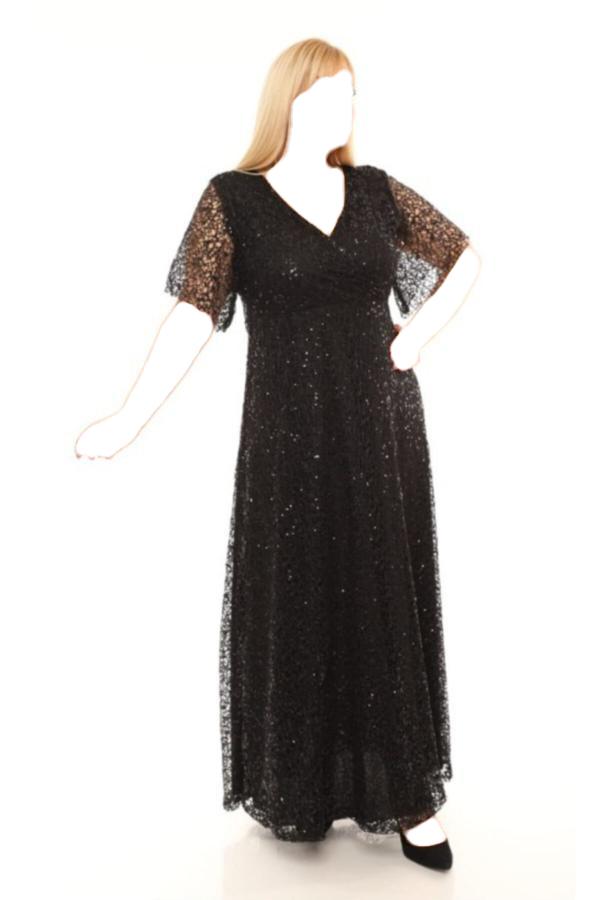 لباس مجلسی زنانه ترک برند FİDAN TEKSTİL رنگ مشکی کد ty52634100