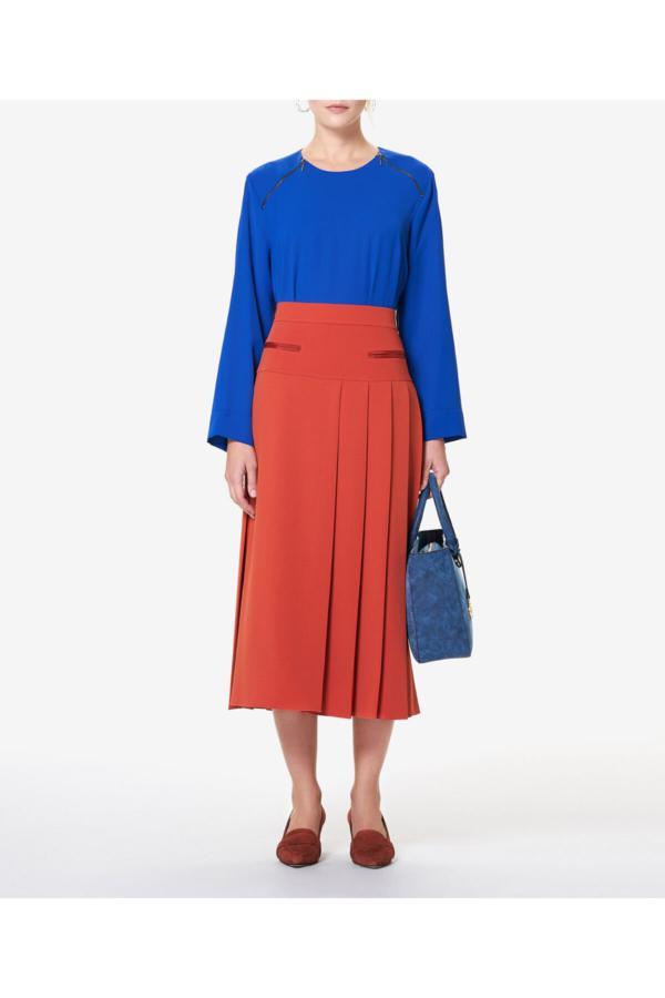 دامن زنانه ارزان برند Aker رنگ قهوه ای کد ty52636395