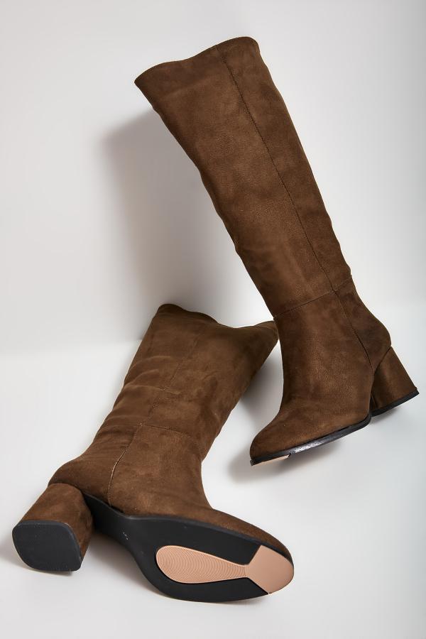 سفارش چکمه زمستانی زنانه برند بامبی رنگ خاکی کد ty52636909