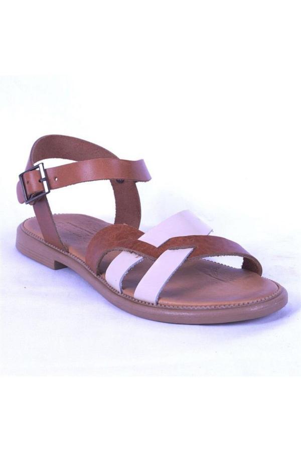 صندل زنانه مدل برند Ustalar Ayakkabı Çanta رنگ قهوه ای کد ty52641174