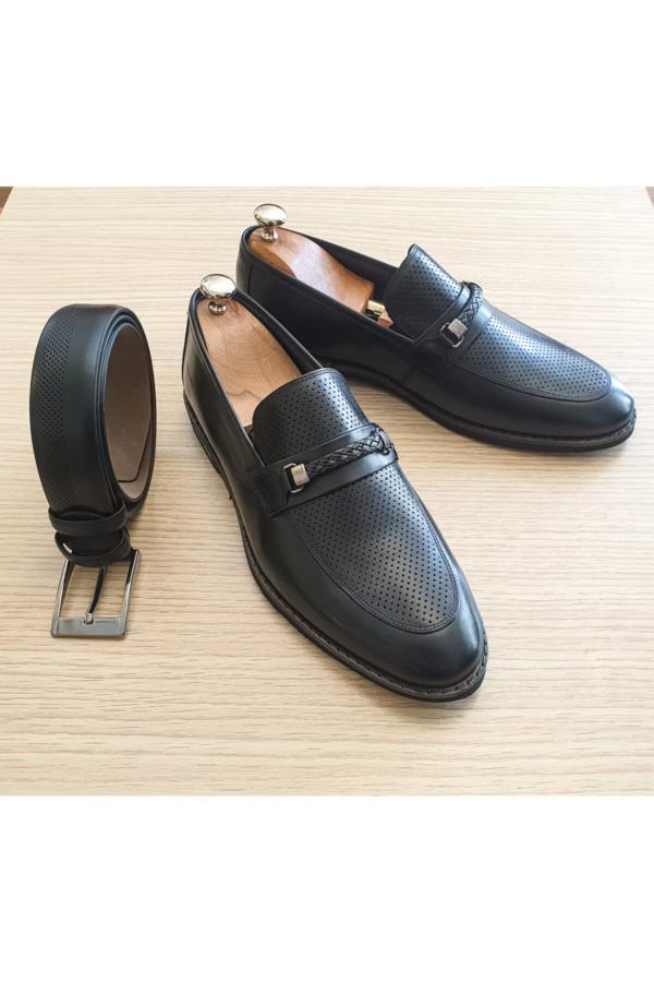 کفش کلاسیک مردانه زیبا برند PİTON SHOES رنگ مشکی کد ty52651974