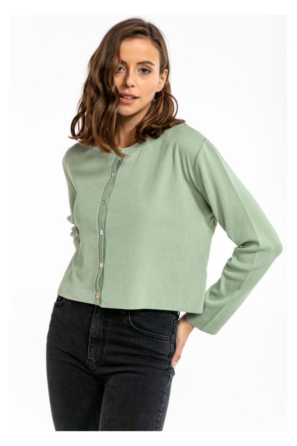 ست ژاکت بافتی زنانه برند TIFFANY&TOMATO رنگ سبز کد ty52656120