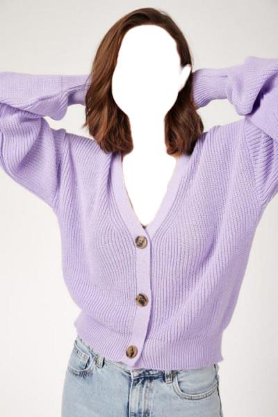 ژورنال ژاکت بافتی زنانه Nizza رنگ بنفش کد ty52662413