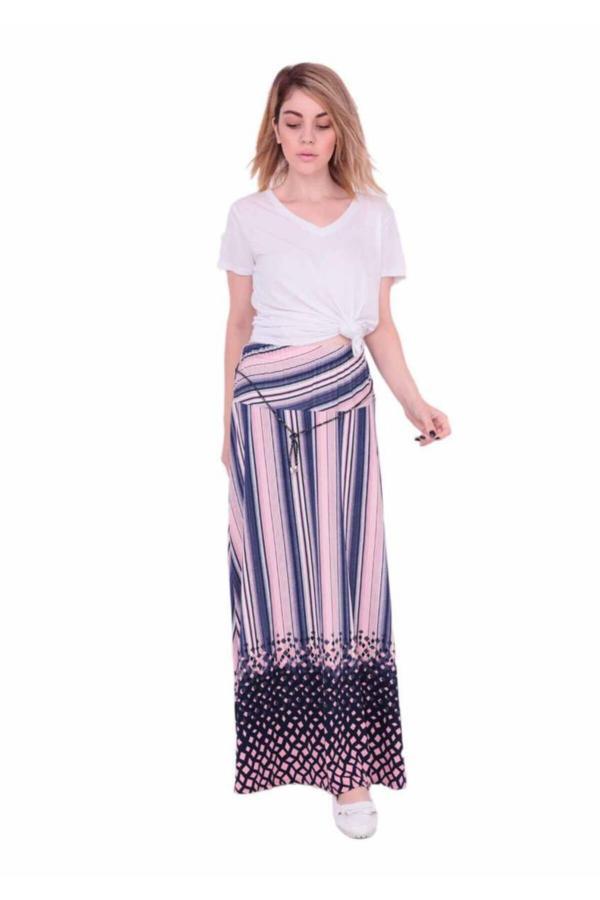 فروش پستی دامن زنانه شیک جدید برند Giyinn رنگ صورتی ty52663282