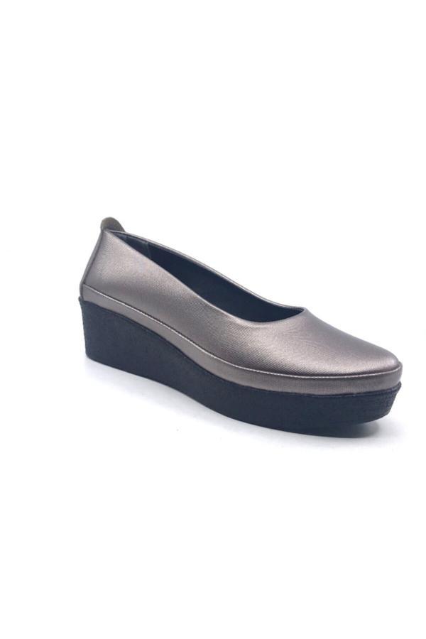 کفش تخت اورجینال برند Ceylan رنگ طلایی ty52664681