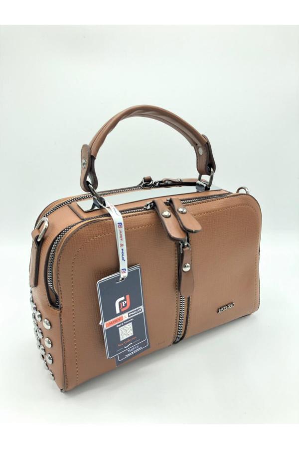 فروشگاه کیف دستی دخترانه اینترنتی برند Just Polo رنگ قهوه ای کد ty52664729