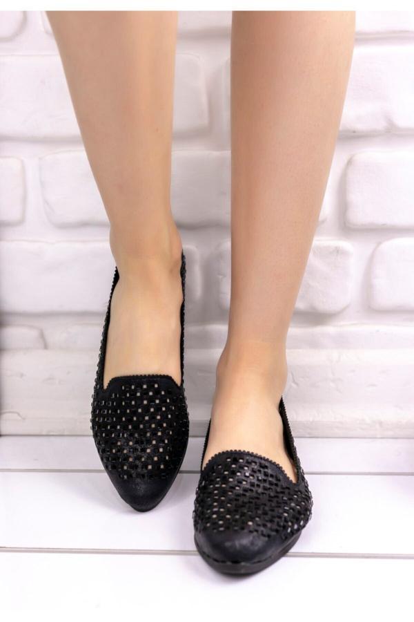 کفش تخت زیبا برند kendimarkan رنگ مشکی کد ty52683242