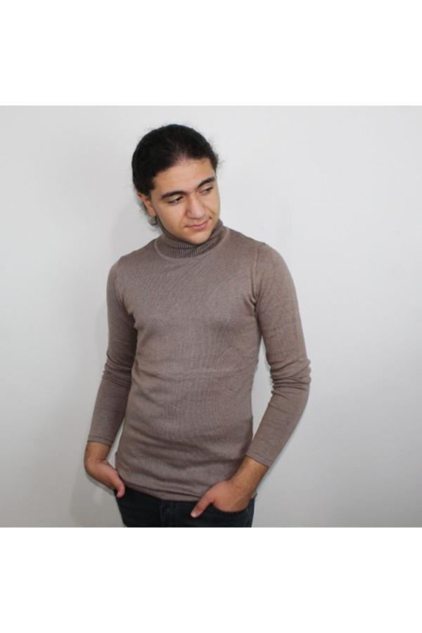 پلیور بافتی مردانه ست برند BY KOTÇU رنگ بژ کد ty52684964