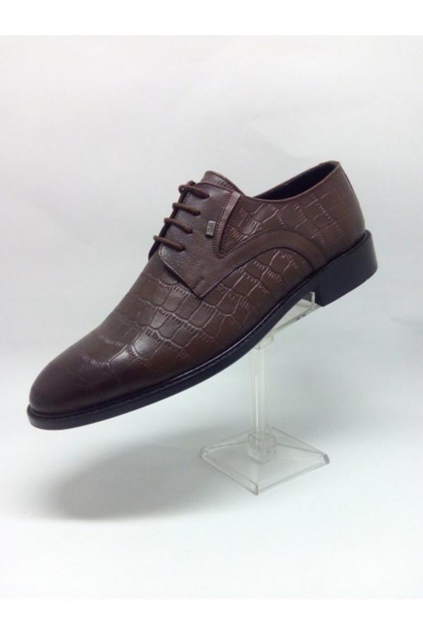 کفش کلاسیک مردانه مارک دار برند MUSİ رنگ قهوه ای کد ty52685306