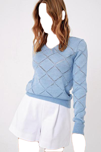 خرید ارزان پلیور فانتزی زنانه مارک Trend Alaçatı Stili رنگ آبی کد ty52863499