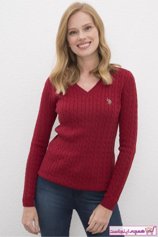 خرید پلیور 2020 زنانه برند U.S. Polo Assn. رنگ قرمز ty52870556