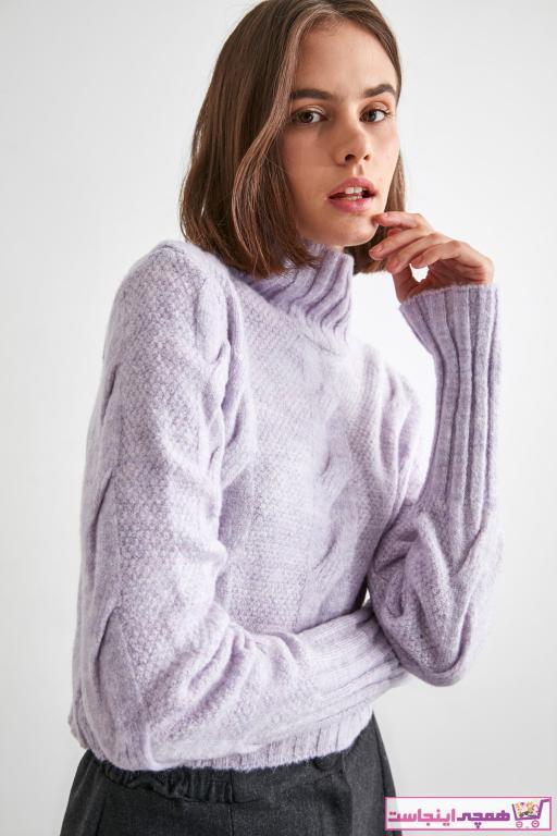 خرید انلاین پلیور جدید زنانه شیک برند TRENDYOLMİLLA رنگ بنفش کد ty52879460