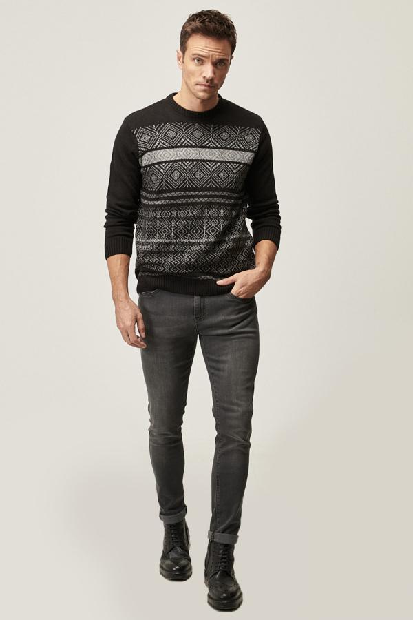 شلوار جین مردانه فروش برند ALTINYILDIZ CLASSICS رنگ نقره ای کد ty53559588