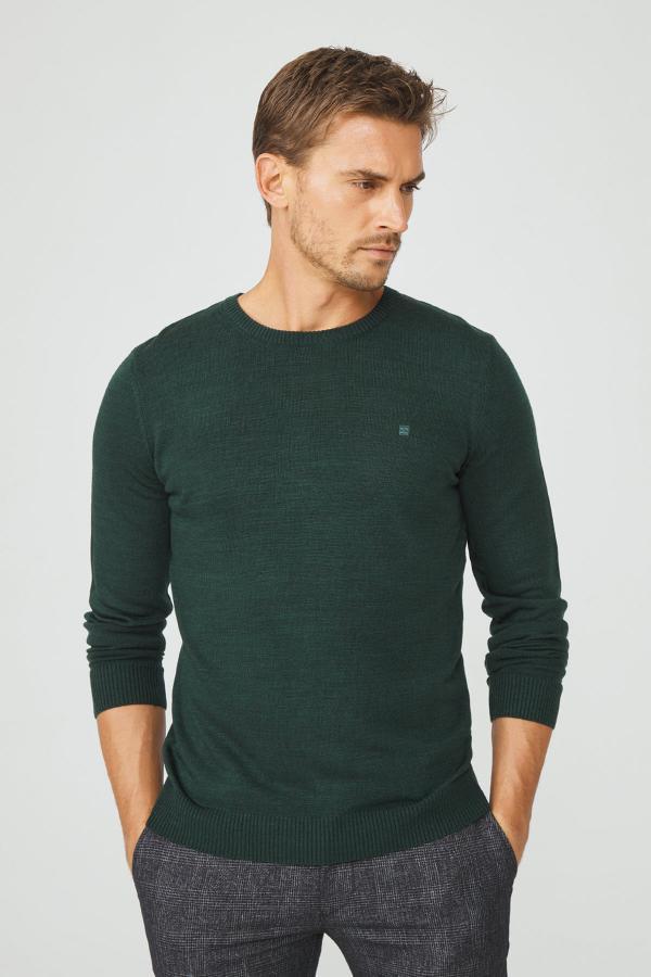 پلیور مردانه مدل دار برند آوا رنگ سبز کد ty53677744