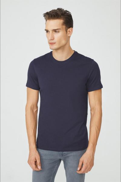خرید پستی تیشرت شیک مردانه برند آوا رنگ لاجوردی کد ty53677774