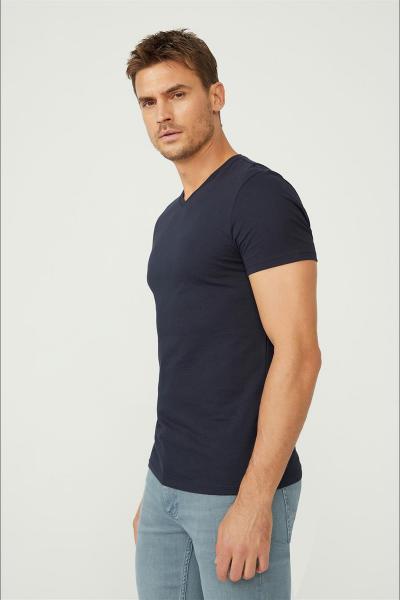 خرید انلاین تیشرت جدید مردانه شیک برند آوا رنگ لاجوردی کد ty54102393