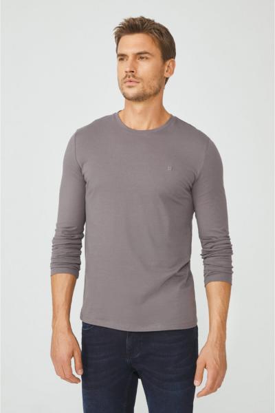 تی شرت مردانه ترک برند آوا رنگ نقره ای کد ty54102409