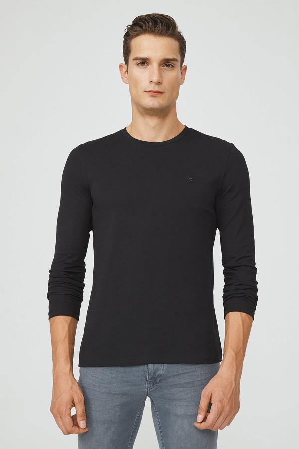 تی شرت مردانه فروشگاه اینترنتی برند آوا رنگ مشکی کد ty54102461