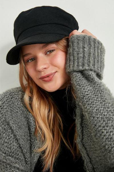 خرید پستی کلاه اورجینال زنانه برند PURL رنگ مشکی کد ty54540773
