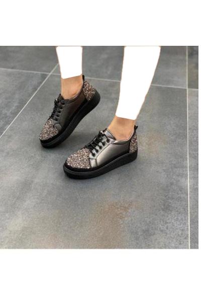 کفش تخت زنانه حراجی برند DİVA رنگ متالیک کد ty54585829