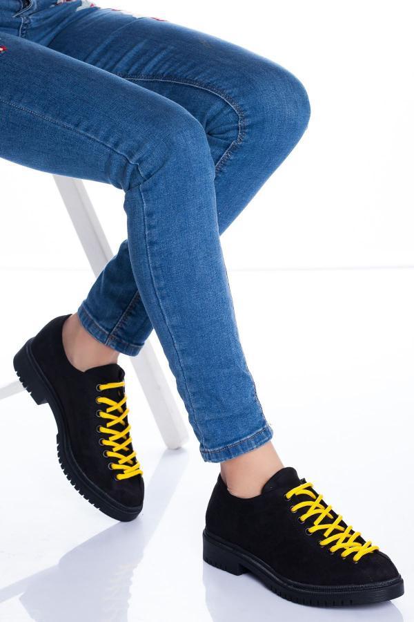 سفارش اسپرت زنانه ارزان برند Ayakkabı Frekansı رنگ زرد ty54593905