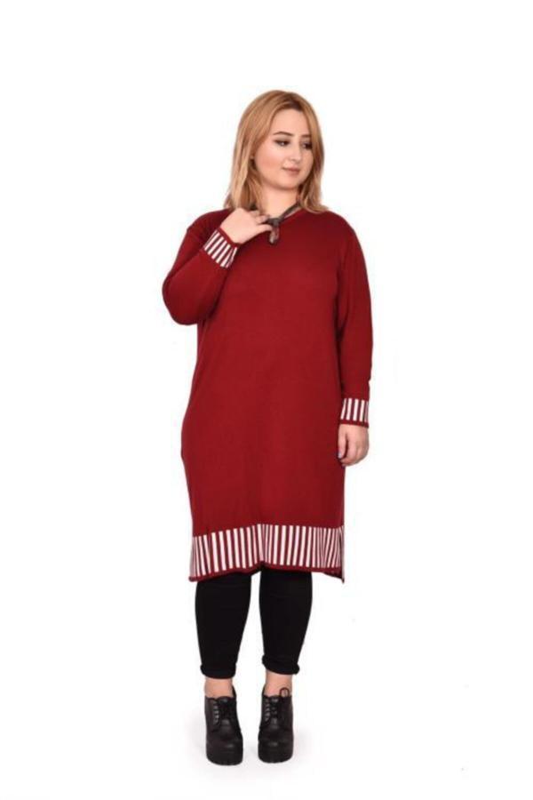 قیمت تونیک زنانه برند Novinza رنگ زرشکی ty54596540