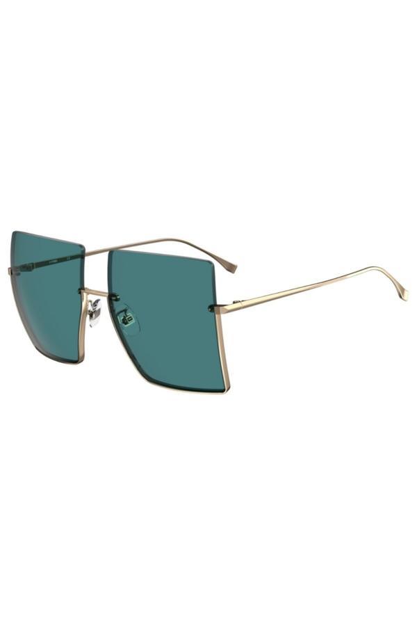 عینک آفتابی زنانه اینترنتی برند Fendi رنگ طلایی ty54619118