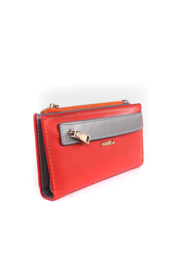 کیف پول دخترانه ترک برند SOSELA رنگ نارنجی کد ty54623136