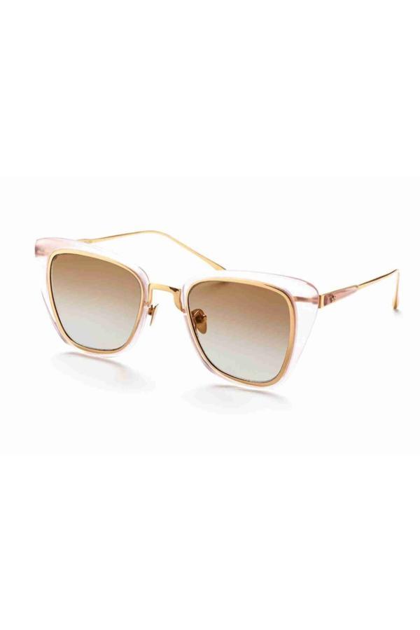 عینک آفتابی زنانه طرح دار برند A M EYEWEAR رنگ صورتی ty54630190