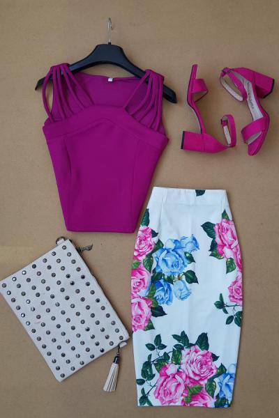 خرید انلاین دامن زنانه طرح دار برند BlueUmman کد ty54660755