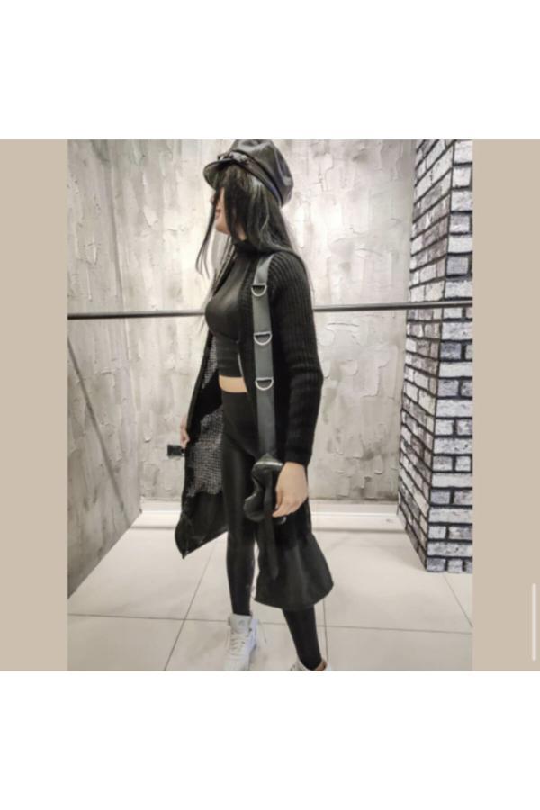 ژاکت بافتی زنانه مدل 2020 GO FASHİON رنگ مشکی کد ty54662661