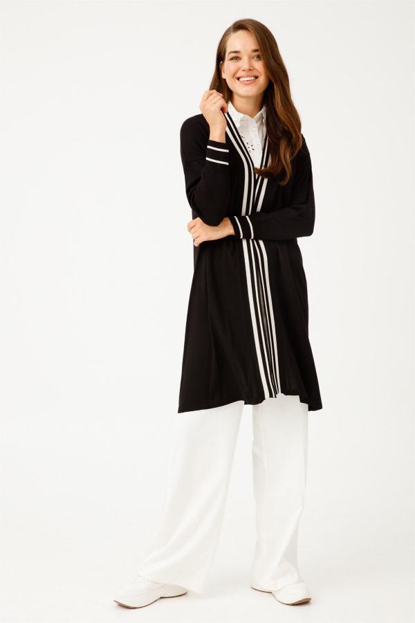 خرید انلاین ژاکت بافتی زیبا زنانه Tığ Triko رنگ مشکی کد ty54665923