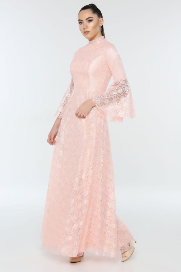 خرید لباس مجلسی نخی برند FİLELİ رنگ صورتی ty54671738