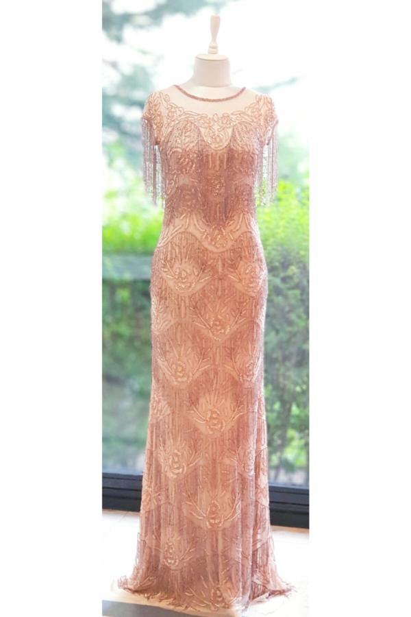 لباس مجلسی زنانه ارزان قیمت برند İthal رنگ صورتی ty54679911