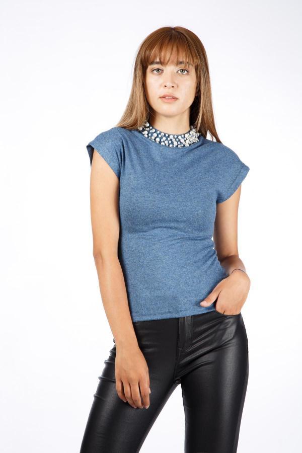 خرید مدل شومیز زنانه برند Favori رنگ لاجوردی کد ty54681020