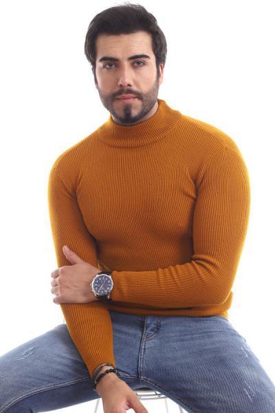 پلیور مردانه فانتزی برند ChokModa رنگ زرد ty54774681