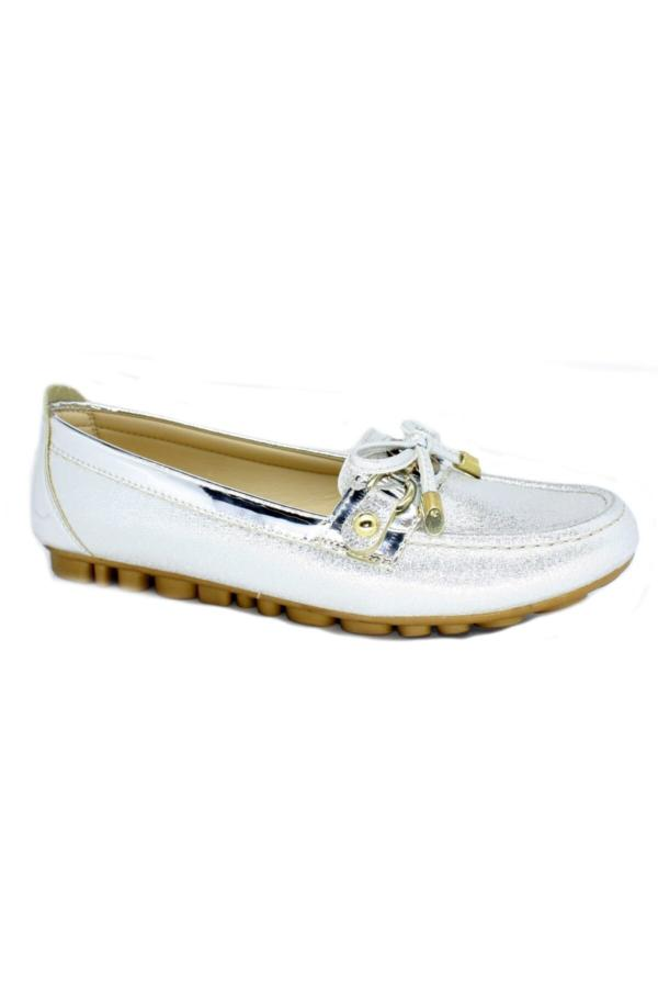 خرید کفش تخت زنانه ست برند TRENDYSHOES رنگ نقره کد ty54780151